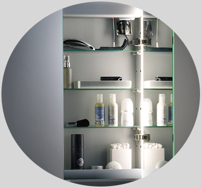 bad spiegelschrank mit beleuchtung polory bdb011. Black Bedroom Furniture Sets. Home Design Ideas